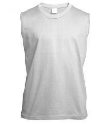 114021184f29 Pánske tričko-QT bez rukávov biele 160 gr. (QUALITY TEXTILE   PROMO TEXTILE)